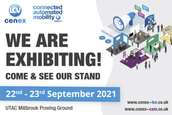 We are exhibiting at Cenex-LCV2021 on the 22nd and 23rd September